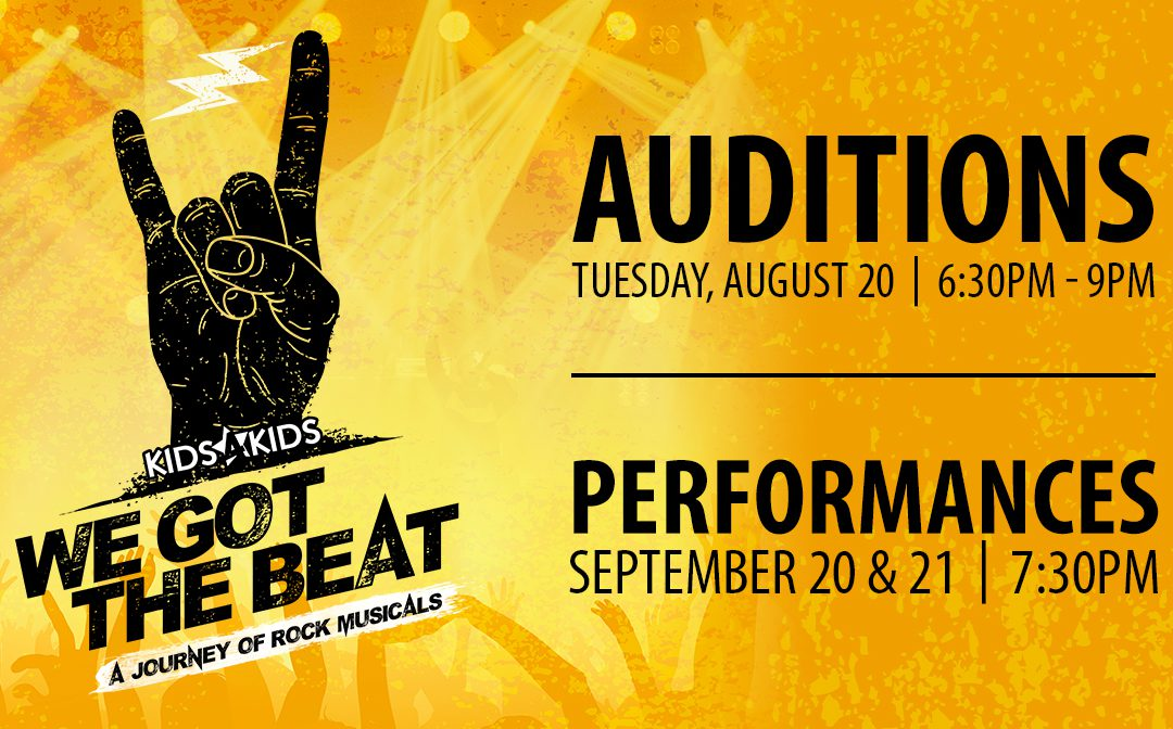 "Audition: 2019 Young Artist Cabaret, ""We Got the Beat"""